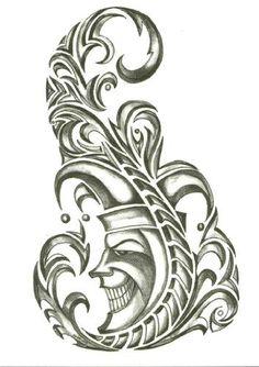 """Iron Tribal Court Jester Temporary Body Art Tattoos 2.5"""" x 3.5"""" TMI,http://www.amazon.com/dp/B00AAK6VRQ/ref=cm_sw_r_pi_dp_n7LRqb1TSN4SJBJF #tattoos #bodyart #apparel #bikers"""