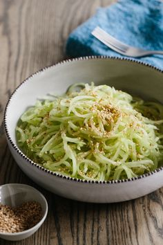 ~ Living a Beautiful Life ~ Recipe: Chilled Cucumber Noodles with Sesame Dressing — Recipes from The Kitchn Vegetarian Recipes, Cooking Recipes, Healthy Recipes, Potluck Recipes, Dinner Recipes, Sesame Dressing Recipe, Cucumber Recipes, Asian Recipes, Ethnic Recipes