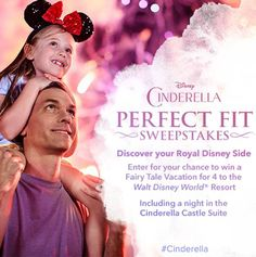 Enter to win a Walt Disney World Vacation for 5 days and 4 nights in honor of Cinderella, which is opening in theatres everywhere on March 13th, 2015. Yepie, PLUS one of those nights you will...