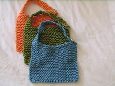 Simple knit baby bib- perfect functional project for a beginner.