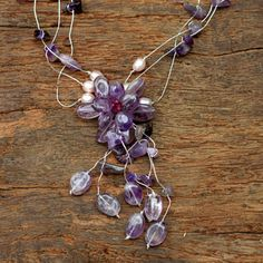 Amethyst and Pearl 'Fantasy' Necklace (Thailand)