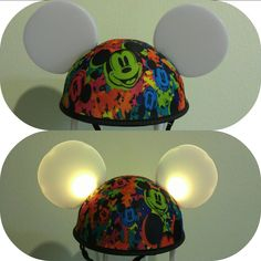 Disney mickey ears hat Glow with the show light up