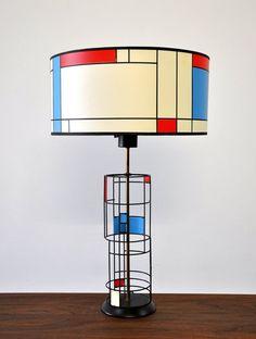 "cgmfindings:  ""Mid-Century Modern Mondrian Table Lamp  """