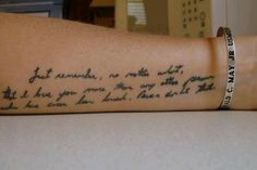 """A marine wife had a part of her husband's """"if I don't come back"""" letter tattooed on her arm in his memory after he was kia ."""