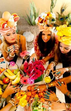 Pretty sure this needs to happen in my life....fruit hat party?! #sofun