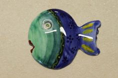 Fish Brooch Unique handpainted Pieces http://www.seniocer.it/#/1169-jewelry/21