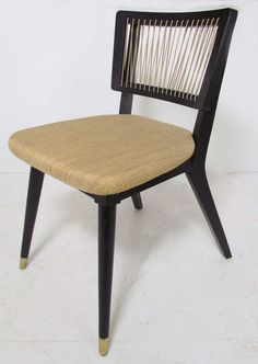 Set Of Six String Back Dining Chairs By John Keal For Brown Saltman