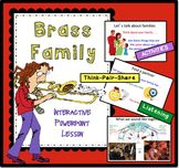 Guide your elementary music students through this interactive PowerPoint lesson to learn about the Brass Instrument Family. #elementarymusic #brassfamily
