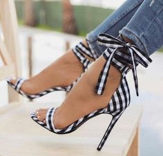LALA IKAI Scottish Plaid High Sandals Women Cross-Attached Heels Ladies Ankle Strap Lace Up Party Bow High Shoes (China) Source by cokethimode High Sandals, High Shoes, Ankle Strap Sandals, Summer Sandals, Heeled Sandals, Sandals Outfit, Strappy Shoes, Women's Sandals, Heels Outfits