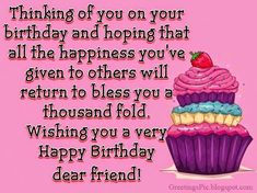 Happy birthday wishes cards for a special friend ~ Greetings Wishes Images