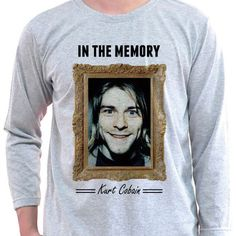Kurt Cobain Nirvana Front Man Rock Star Died In The Memory Cool Long Sleeve T-Shirt by insehomemade on Etsy