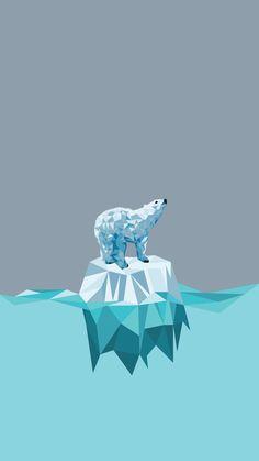 Minimal iPhone wallpaper ❤ polar bear