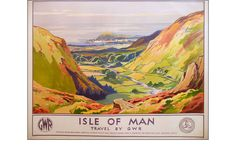 A poster of William Hoggarth's Isle of Man, printed for GWR by Jordison and Co Ltd