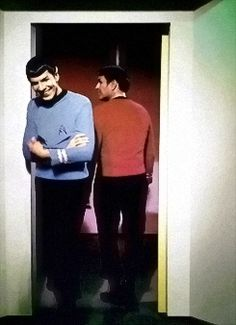 Behind the scenes, on the 1960's televisions series, STAR TREK (original vintage image color & density corrected).