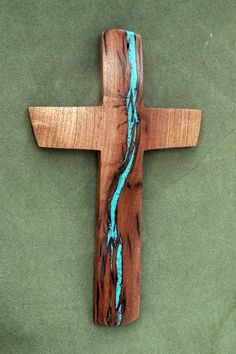 13 high x 8 wide Mesquite Wall Cross with by BlackFacedSheep