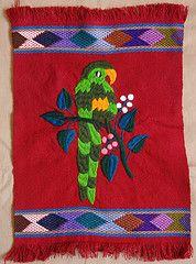 Loro verde Chiapas (Teyacapan) Etiquetas: flores pájaros méxico textil bordado maya chiapas tejiendo loros piknik Zinacantán bordado