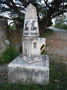 Bataan Death March -marker Bacolor Pampanga(where the Filipinos passed