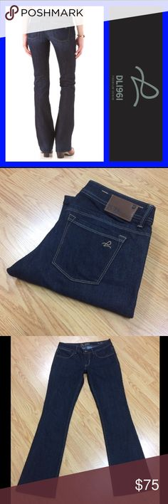 """NWOT DL1961: Milano boot jeans 29 x 33 DL1961 Milano boot jeans with a 33"""" inseam, 8"""" rise and 18.5"""" leg opening.. They measure 15"""" across the top of the waist when laying flat.. 73% cotton and 27% polyester.. Brand new!! Tags taken off but never worn ☺️ DL1961 Jeans Boot Cut"""