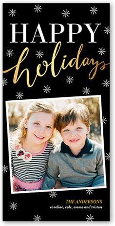 Sharing Memories 4x8 Photo Card | Christmas Cards