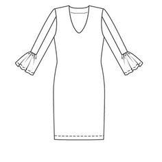 Платье - выкройка № 106 A из журнала 1/2009 Burda – выкройки платьев на Burdastyle.ru Parka, Race Wear, Jersey Knit Dress, Sewing Patterns, Tunic Tops, Pullover, Vogue, How To Wear, Style