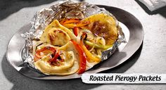 Onions, peppers and pierogies all wrapped up in one easy-to-prep foil packet. Just fold 'em up, cook 'em up and enjoy!