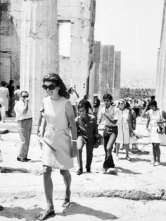 The glorious sites (and sights). Jacqueline Kennedy Greek goddess-worthy sandals.