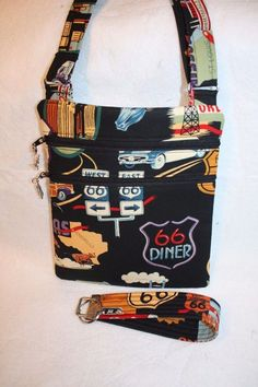 Handcrafted Crossbody Bag Route 66 Travel Themed  w/Adj Strap #Handcrafted…