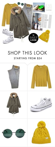 """""""The Daily Look"""" by biange ❤ liked on Polyvore featuring Versace, Toast, Converse, YHF and Rella"""