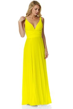 95S35202<br>PLEATED CHIFFON OPEN BACK GOWN