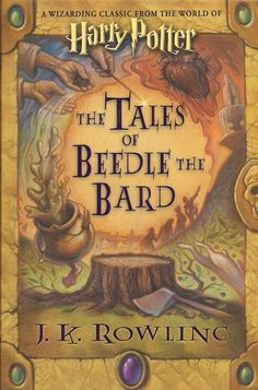 """THE TALES OF BEEDLE THE BARD, a Wizarding classic, first came to Muggle readers' attention in the book known as HARRY POTTER AND THE DEATHLY HALLOWS. Now, thanks to Hermione Granger's new translation from the ancient runes, we present this stunning edition with an introduction, notes, and illustrations by J. K. Rowling, and extensive commentary by Albus Dumbledore."""