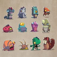 Fantasy Character design - Monsters Concepts 02 by DerekLaufman on deviantART Game Character Design, Character Design References, Character Design Inspiration, Character Concept, Character Art, Game Concept, Character Development, Game Design, Monster Concept Art
