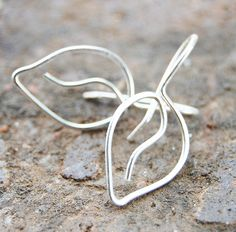 Simple. Sterling. Silver. Leaf. Earrings..