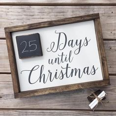 Days until Christmas Christmas countdown sign by JamesandAlice Christmas Signs Wood, Holiday Signs, Rustic Christmas, Winter Christmas, Days Until Christmas, All Things Christmas, Christmas Holidays, Christmas Projects, Holiday Crafts