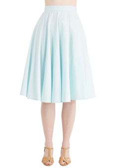 Whimsical Wonder Skirt in Sky. Its easy to see why youre head over heels for this pale blue skirt! #blue #modcloth