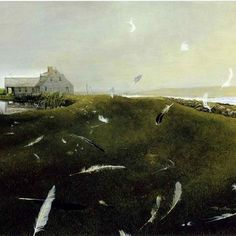 Andrew Wyeth - my absolute favourite -wish I could walk every one of his paintings....