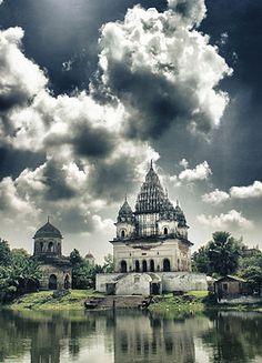 Shiva Temple,Puhia,Bangladesh.  Two Shiva One Vishnu in one Spot Puthia, Bangladesh