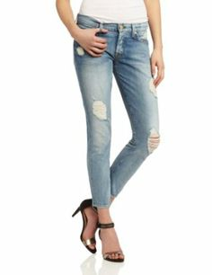 7 For All Mankind Women's Josefina Jean $225.00 & FREE Shipping. 100% cotton Machine Wash Natural rise Button fly 11.2-oz. denim A light wash and ripped detailing pay homage to the eighties with a very modern slim fit. Made in USA