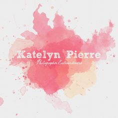 Colorful Paint Splatter Logo and Watermark  by OTFdesigns on Etsy, $30.00