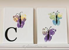 butterfly footprints, butterfly