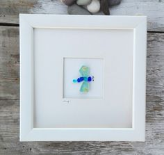 This item is unavailable Sea Glass Crafts, Sea Glass Art, Seashell Crafts, Stained Glass, Butterfly Wall Art, Glass Butterfly, Best Friend Christmas Gifts, Christmas Tree, Pebble Pictures