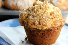 The cinnamon sugar crumble is our favorite kind of muffin top! Apple Desserts, Apple Recipes, Baking Recipes, Cinnamon Muffins, Apple Muffins, Tomato Cake, Apple Slab Pie, Muffin Bread, Muffin Top