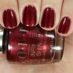 OPI I'm Not Really A Waitress | Infinite Shine Iconic Collection | Peachy Polish