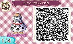 *☆petit four chocolat☆* *マイデザ*デイジー柄ワンピN(PRO)白。