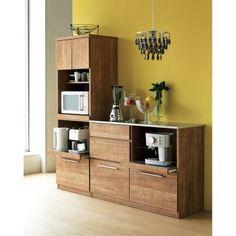 Kitchenette, Living Room Designs, Kitchen Design, Kitchen Cabinets, Dining Table, Shelves, House Design, Interior Design, House Styles
