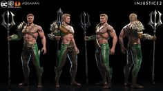 Injustice is back to pit DC's heroes (and villains) against each other in overblown combat. It also put a ton of artists to work designing their own takes on the costumes, characters and environments of the comic empire's properties. Injustice 2 Characters, Dc Characters, 3d Model Character, Comic Character, Character Design, Comic Manga, Anime Manga, Aquaman Injustice, Marvel Vs