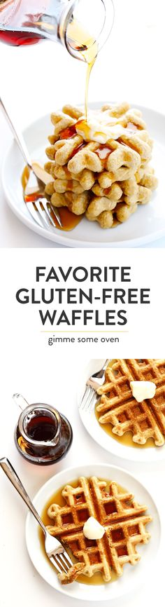 This easy Gluten-Free Waffles recipe is made with everyday ingredients you probably already have on hand (like lots of old-fashioned oats), and it's the perfect easy recipe for breakfast or brunch! | Gimme Some Oven