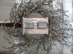 My sparkly monogram Christmas wreath.