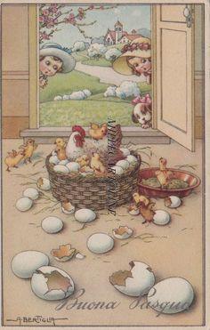 A. BERTIGLIA: Buona Pasqua n. 560-2 1941