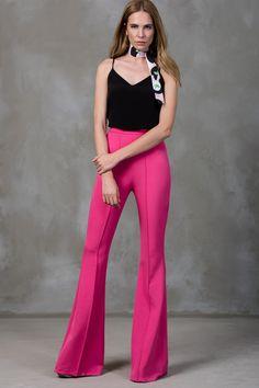 İspanyol Paça Pembe Pantolon TRENDYOLMİLLA   Trendyol