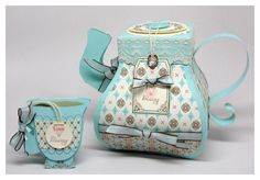 Video Perfect Peek- A Spot of Tea Giveaway - My Time, My Creations, My Stampendence Teapots And Cups, Teacups, 3d Paper Crafts, Paper Art, Paper Tea Cups, Diy Gift Box, Tea Box, Altered Boxes, Mad Hatter Tea